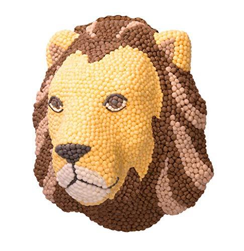 PlayMais Mosaic Home Lion Wand-Dekoration zum Basteln   für Kinder ab 5 Jahren   3D Löwenkopf aus 9000 Stück   Wanddeko fürs Kinderzimmer   Fördert Kreativität & Feinmotorik