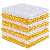 Sunolga Cotton Terry Dishcloth,12 x 12 Inches,Set of 8 Kitchen Dish Cloths Soft Absorbent Kitchen Towels Rags (12x12 Inches, 8 Pack Dish Cloths, Yellow)