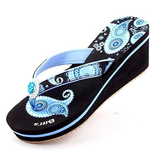 Shukun vrouwen flip flops outdoor pantoffels Women'S Woorden zomer rubber dikke Soled Wedges Beach Clips gepersonaliseerde mode sandalen