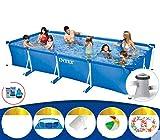 TYPING Piscina De Apoyo Familiar para Niños Tubular Desmontable Fácil De Montar PVC Muy Resistente A La Rotura Apto para 1-12 Personas, Azul,300x200x75cm