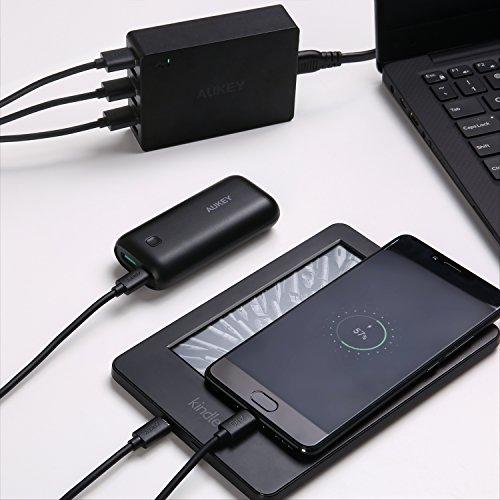 AUKEY Micro USB Kabel ( 1.2m - 3 Stücke ) Android Ladekabel und Datenkabel für Micro USB Geräte wie Samsung Galaxy S7 / S7 Edge / S6 , HUAWEI , Sony , Powerbank , Kindle usw. - Schwarz
