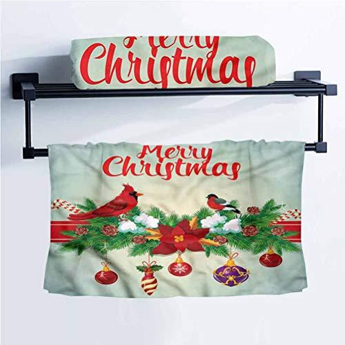 Cardinal Sports Towel Children's Bath Towel Hanging Baubles Garland 14' W x 14' L