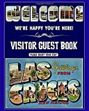"""Visitor Guest Welcome,  We're Happy You're Here!  Greeting from Las Cruces New Mexico OldPost Car: Sign In Log Book For AirBnB  Vacation Rentals, Bed ... Beautiful Local Cover 8"""" x 10""""  160 Pages"""