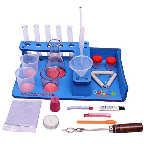 THE CURIOUS BRAIN® Chemistry Work Station- Chemistry APPARTUS KIT for Student - Chemistry Experiments- Age 8-16 Years- Boys & Girls-DIY Chemistry kit- CBSE,ICSE,State Board Chemistry kit
