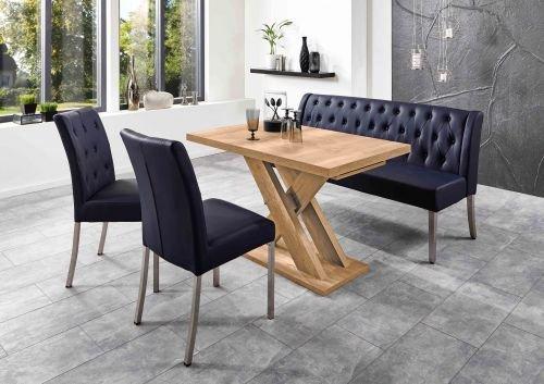 Moebelstore24 zitgroep tafelgroep bankgroep Manchester tafel + zitbank + stoelen