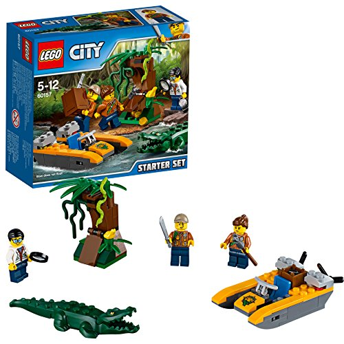 LEGO Jurassic World Jungle Explorers Starter Set della Giungla, Multicolore, 60157