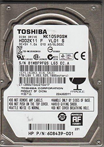 MK1059GSM, A0/GL002C, HDD2K11 F VL01 S, Toshiba 1TB SATA 2.5 Festplatte