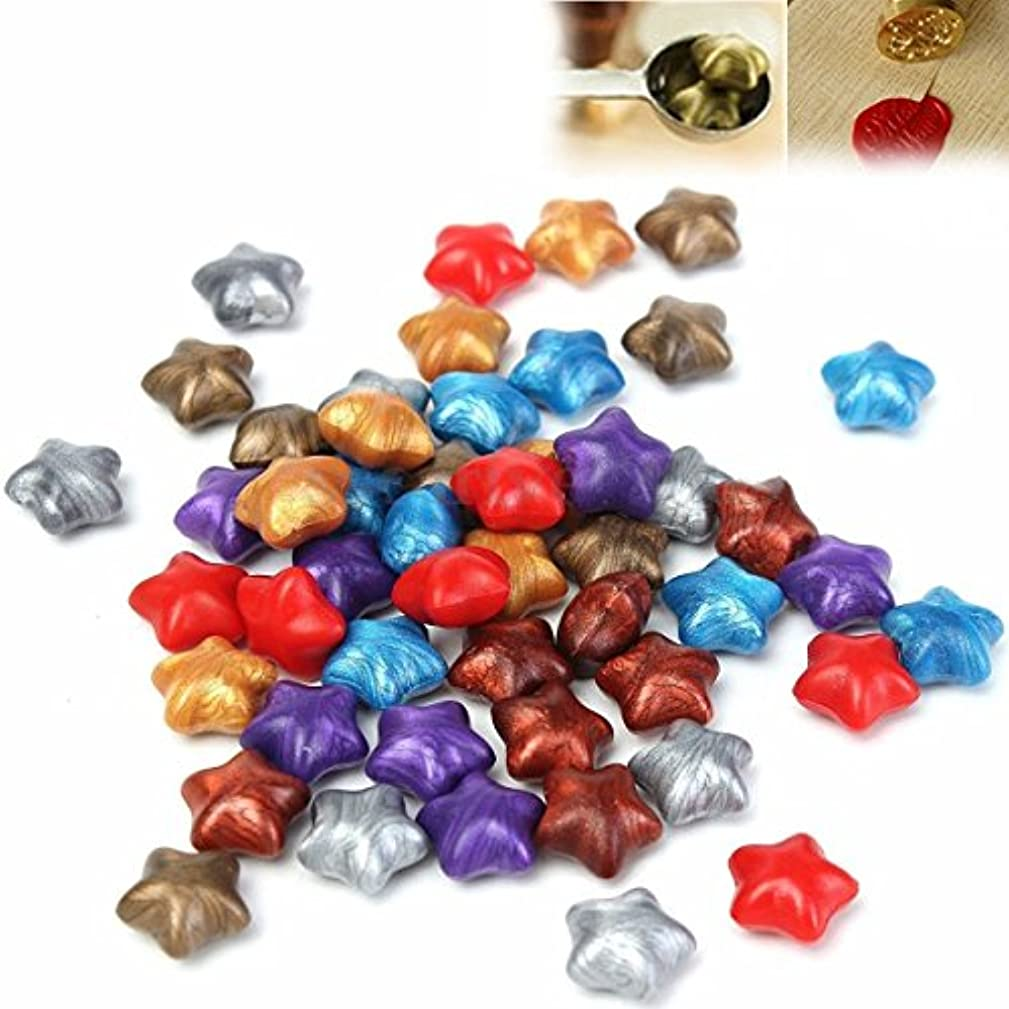 Wax Seal,PUQU 100Pcs 7Color Star Shaped Wax Sealing Beads for Sealing Stamp Invitation Letter