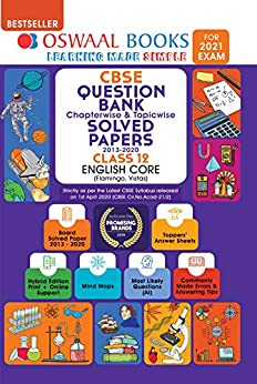 Oswaal CBSE Question Bank Chapterwise & Topicwise Solved Papers Class 12, English Core (For 2021 Exam) by [Oswaal Editorial Board]