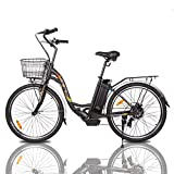 ECOTRIC Powerful Electric Bike 26' City EBike 350W Motor 36V/10AH Moped Pedal Assist Bicycle - 90% Pre Assembled, Throttle & Pedal...