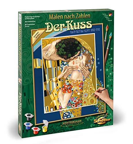 Schipper 609130301 - Malen nach Zahlen - Der Kuss - Bilder malen für Erwachsene, inklusive Pinsel und Acrylfarben, 40 x 50 cm