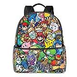 Legend Cartoon Zelda Pikachu Mario Smash Bros Kirby Anime Moda Lindo Chico Chica Mochila Escuela