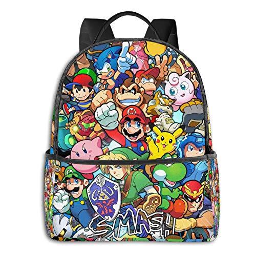 The Legend of Zelda Pikachu Super Mario Smash Bros Kirby Anime Fashion Cute Boy Girl Mochila escolar