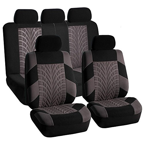 FH Group FB071GRAY115 Car Seat Cover (Travel Master Airbag and Split Bench Compatible Gray) California