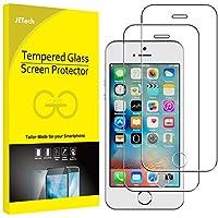 JETech Protector de Pantalla Compatible Apple iPhone SE (Edición 2016), iPhone 5s, iPhone 5 y iPhone 5c, Vidrio Templado, 2 Unidades