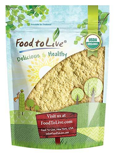Organic Garbanzo Bean Flour, Non-GMO Chickpea Flour, Stone Ground, Kosher, Vegan, Bulk, High in Protein and Fiber
