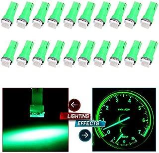cciyu 20 Pack T5 58 70 73 74 Dashboard Gauge 5050SMD LED Wedge Lamp Bulb Light 6 Colors Fits 2005-2007 GMC Sierra 1500 1500 HD Yukon Yukon XL 1500 Sierra 1500 1500 HD 2500 HD 3500 (20pack green)