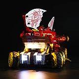 LIGHTAILING Conjunto de Luces (Ninjago Navío de Tierra) Modelo de Construcción de Bloques - Kit de luz LED Compatible con Lego 70677 (NO Incluido en el Modelo)