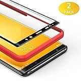 BANNIO für Panzerglas für Samsung Galaxy Note 8,[2 Stück] 3D Panzerglasfolie Schutzfolie für Samsung Galaxy Note 8 mit Positionierhilfe,9H Festigkeit,Anti Rayures,Blasenfrei,Anti-Kratzen,Schwarz