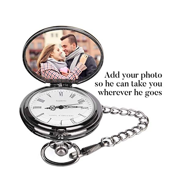 Anniversary Gifts for Men / Him / Husband | Engraved 'To my Husband' Pocket Watch | Gift for Husband from Wife for Birthday / Valentines / Happy Anniversary!