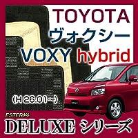 【DELUXEシリーズ】T0YOTA トヨタ ヴォクシーハイブリットVOXY hybrid フロアマット カーマット 自動車マット カーペット 車マット(H26.01~,ZWR8##) オスカーブルー ab-to-voxy-26zwr8-delobl