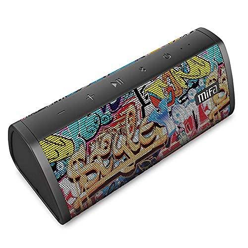 MIFA Soundbox Altoparlante Bluetooth 10 W, Tecnologia TWS e DSP, IP45 Impermeabile, Micro SD card, Cavo Audio 3,5 mm e Microfono Incorporato per iPhone, iPad, Samsung, Huawei, Honor, Graffiti
