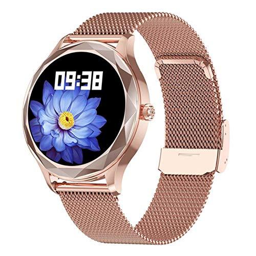 LDJ Nuevo DT86 Smart Watch Women's Cardy Rate Y Monitor Monitor De La Presión Arterial Sports Fitness Tracker IP67 Impermeable Bluetooth Smartwatch Android iOS,D