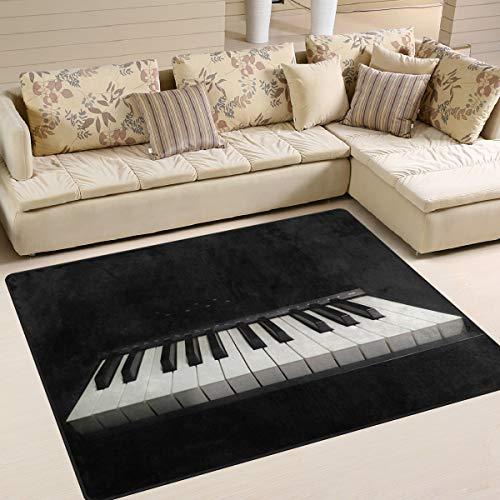 Naanle Klavier-Teppich, rutschfest, für Wohnzimmer, Esszimmer, Schlafzimmer, Küche, 50 x 80 cm, Polyester, multi, 120 x 160 cm(4' x 5')