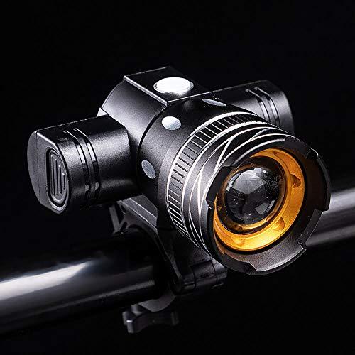 Fietslampen T6 Verstelbare focus, oplaadbaar, waterdicht, mountainbike-uitrusting, accessoires, skateboard, universeel