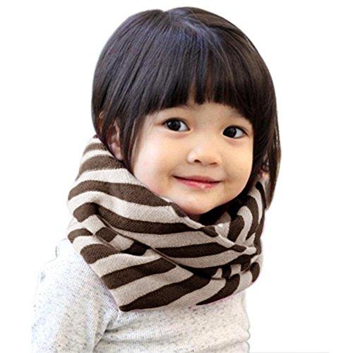 Butterme Caldi Bambini Loop Tubo Sciarpa Belle Costine Sciarpa Ragazzi Ragazze e Ragazzi Classic a Righe O Ring Sciarpa bambini Sciarpa al Collo