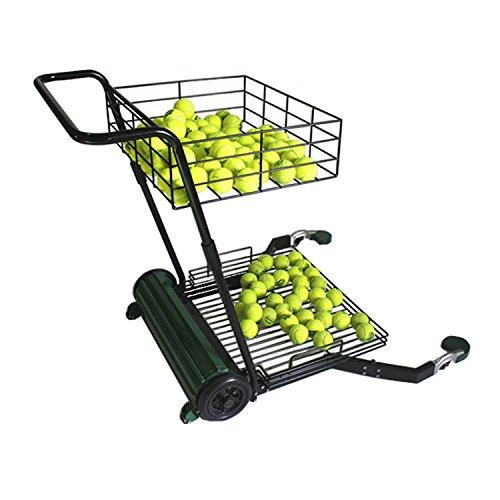 PJS Recogedor de pelotas de tenis manual, capacidad para 270 bolas.