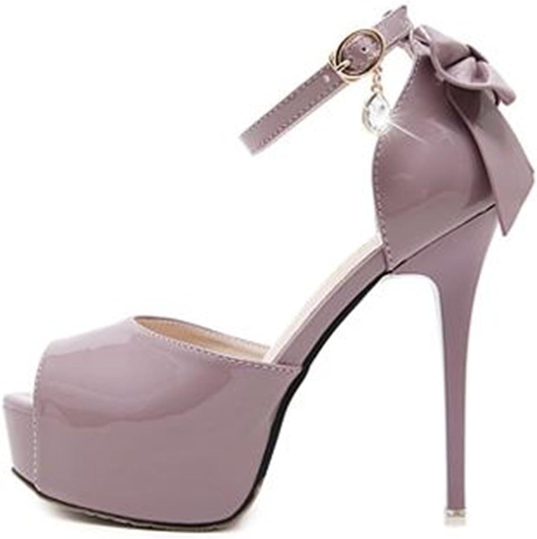 pink town Women Peep Toe Sky High Heels Platform Pumps Ankle Straps shoes Stilettos