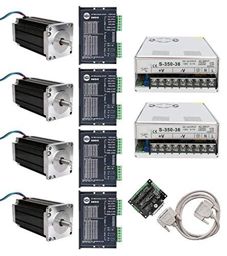 DE-SHIP FREE 4Axis 23HS2442 Nema23 Schrittmotor 112mm 425oz-in 4.2A round Shaft Φ8mm Bipolar 1.8° + DM542 + 350W 36V CNC OEM ACT MOTOR GmbH