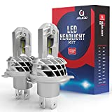 Bombillas H4 LED Coche, AOLEAD 9600LM 56W LED Faros Delanteros Bombillas para DC 12V Coche, 6500K Blanco, 2PCS