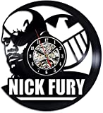 Reloj de Pared de Vinilo cómico Nick Furia Inicio Reloj decoración de la Pared 3D