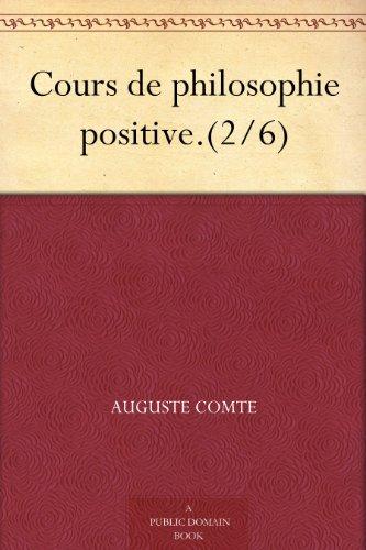 Couverture du livre Cours de philosophie positive.(2 6)