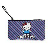 Hello Kitty Women And Girls Cute Fashion Canvas Portamonete, Borsa per cambio borsa a portafoglio, con cerniera Borsa multifunzionale per cellulare con manico