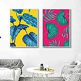 adgkitb canvas Grüne Monstera Pflanzenblätter Poster und