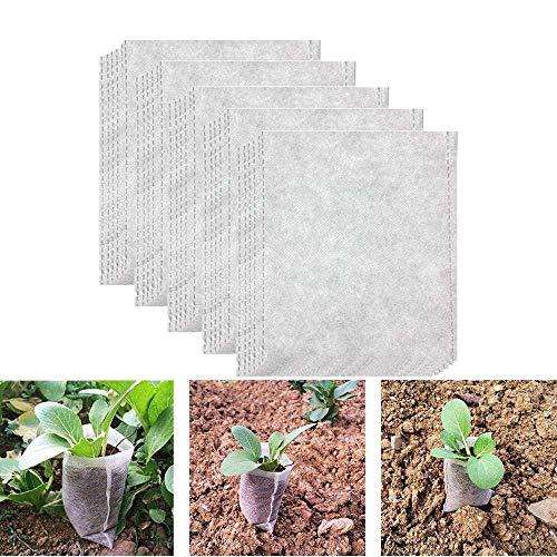 bravewind biologisch abbaubar Vlies Grow Staubbeutel Pflanzen Verteilen Staubbeutel Still Sämling Raising Töpfe Pflanzen Tasche, 8x 10cm 8x10cm