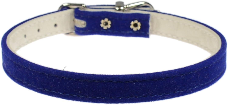 Evans Collars 3 8  Collar, Size 14, Velvet, bluee