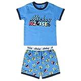 Cerdá Pijama Niño 6 Años de Mickey Mouse-Camiseta + Pantalon de Algodón Juego, Azul, Niños