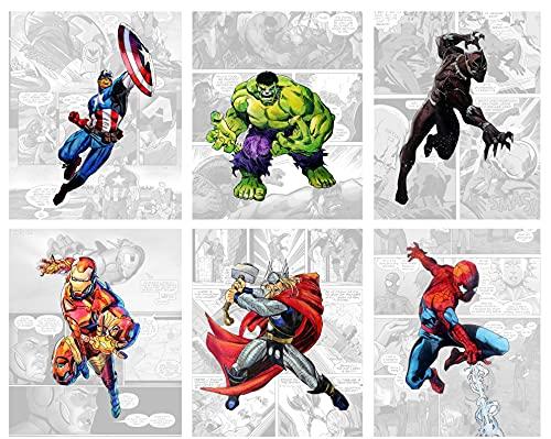 Superhero Wall Decor - Avenger Wall Art – Unframed Set of...