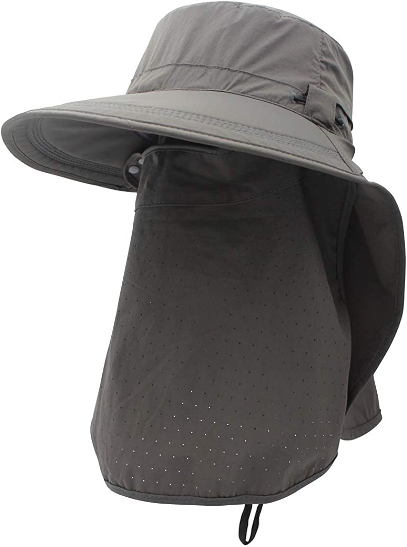 LLmoway Women Safari Sun Hat with Neck Flap Mask Quick Dry Fishing Hats UPF50+