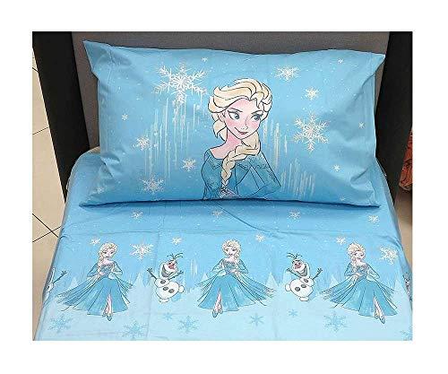 Disney Lenzuolo Flanella Frozen Neve Singolo (sopra Lenzuolo 160x280 + sotto Lenzuolo...