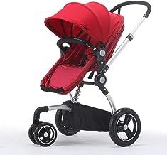 WRJY Cochecito de bebé Sillas de Paseo Cochecitos para niños Asiento Plegable portátil Ligero para niños 0-3 años Carro para niños (Color: púrpura), Rojo (Color: Rojo)