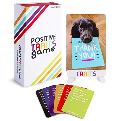 Positive Trait Therapy Games: Social Skills Games that Teaches Social Work Therapy for Kids, Teens and Adults Effective for Self Care, 115 Play Therapy Cards, Counseling game for teachers and families