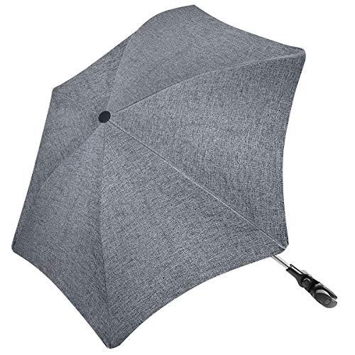 RIOGOO Kinderwagen Sonnenschirm Regenschirm Unregelmäßige Form Universal 50+ UV Sonnenschutz für Babys und Kleinkinder mit Regenschirmgriff für Kinderwagen, Kinderwagen, Kinderwagen und Buggy-Grau