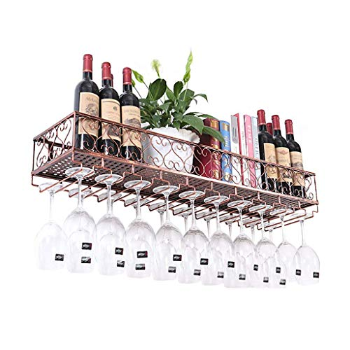 JBNJV Botellero de Pared | Soporte para Botellas y Vasos | Almacén de Corcho | Estantes de Pared para Botellas de Vino o Licor Organizador de estantes para Copas | Hogar \\\