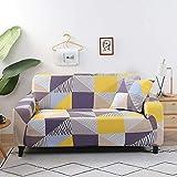 Geometrische Sofabezug Set Baumwolle Elastic Stretch Sofabezüge für Wohnzimmer Ecke Schnittsofa...