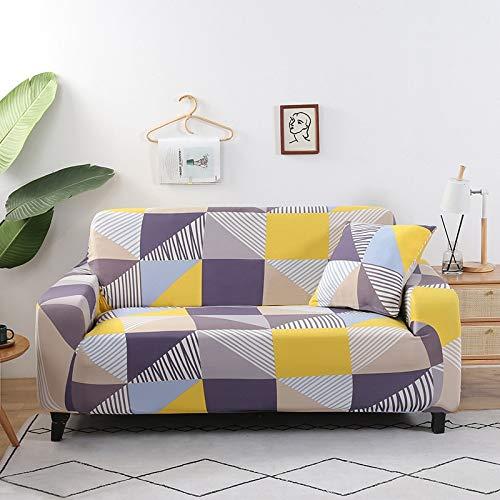 ASCV Patrón de geometría Funda de sofá Funda de sofá elástica para Sala de Estar Sofá de Esquina seccional Moderno Toalla Sillón Funda de sofá A9 1 Plaza